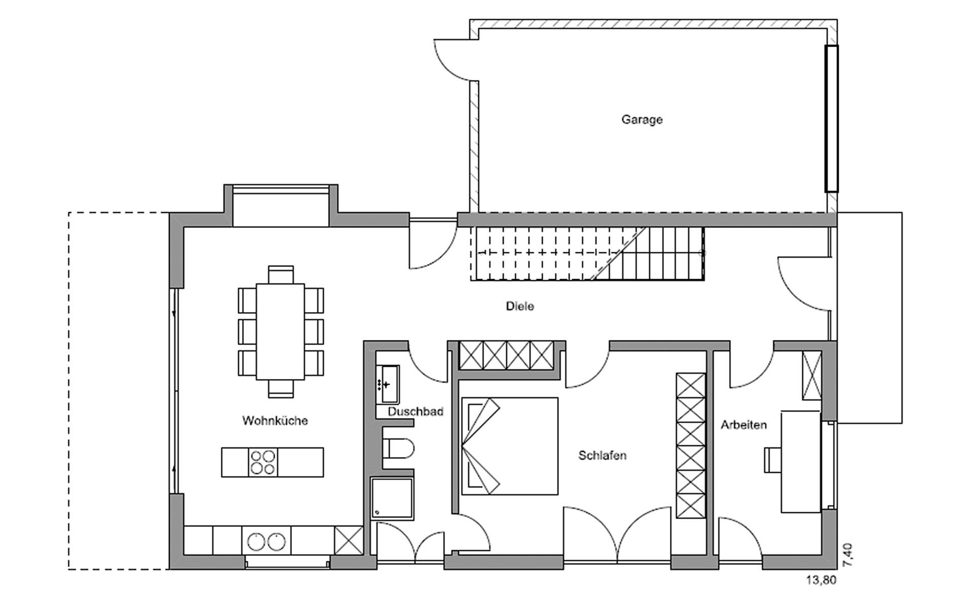 Erdgeschoss Kufstein von Regnauer Hausbau GmbH & Co. KG