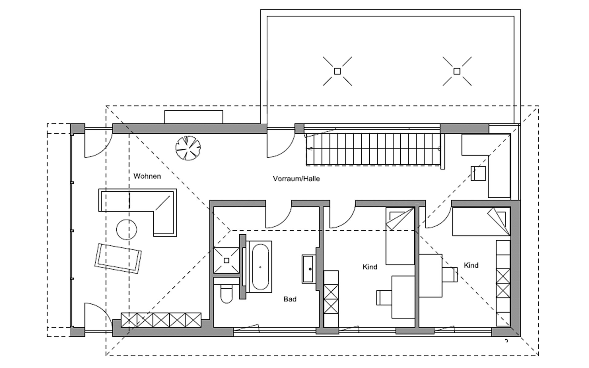 Obergeschoss Kufstein von Regnauer Hausbau GmbH & Co. KG