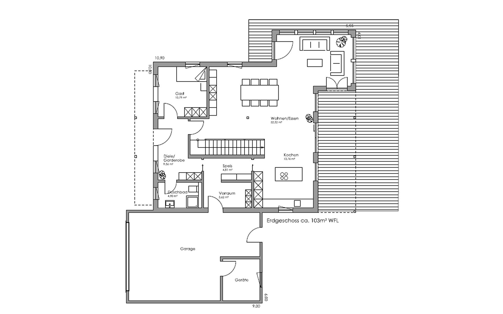 Erdgeschoss Landshut von Regnauer Hausbau GmbH & Co. KG