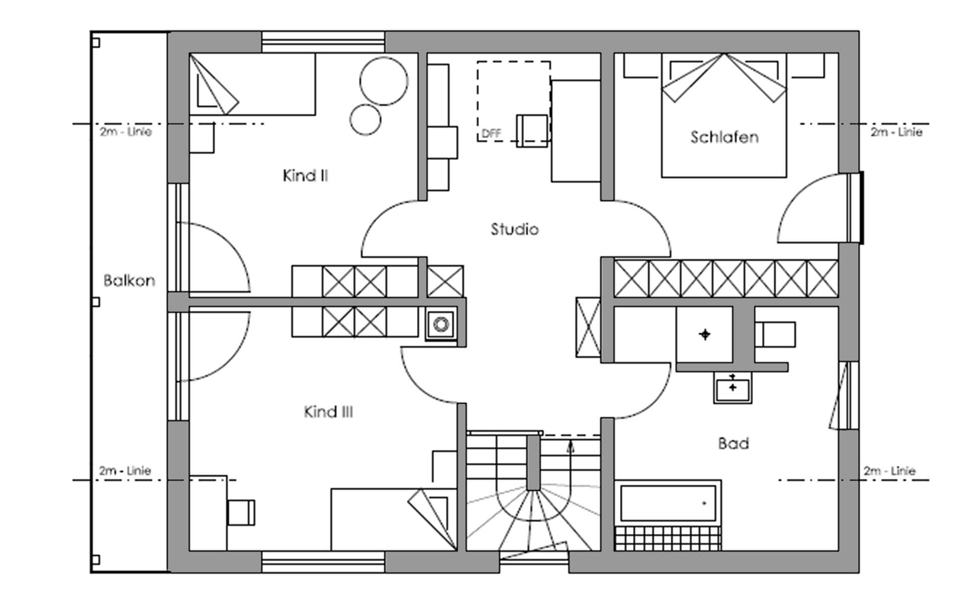 Dachgeschoss Lautrach von Regnauer Hausbau GmbH & Co. KG