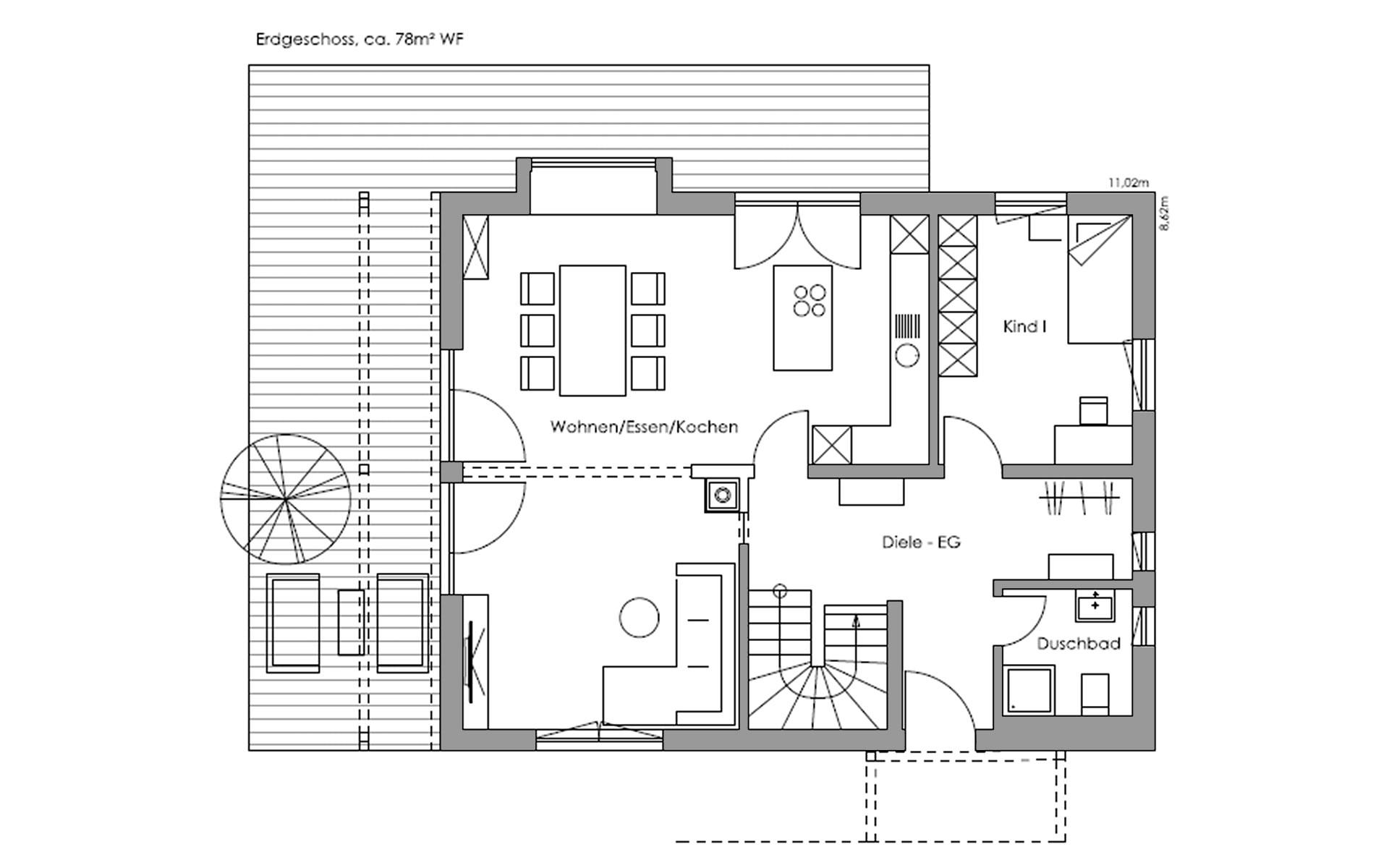 Erdgeschoss Lautrach von Regnauer Hausbau GmbH & Co. KG