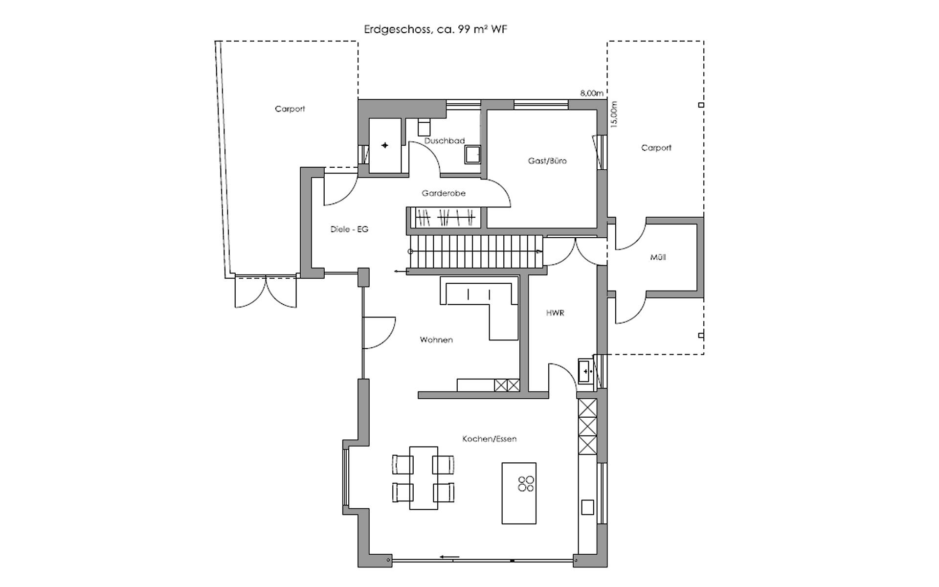 Erdgeschoss Oberaudorf von Regnauer Hausbau GmbH & Co. KG