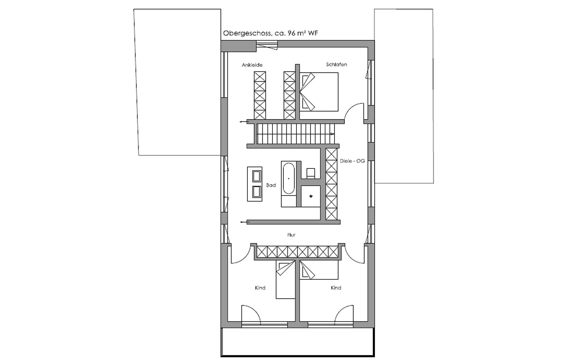 Obergeschoss Oberaudorf von Regnauer Hausbau GmbH & Co. KG