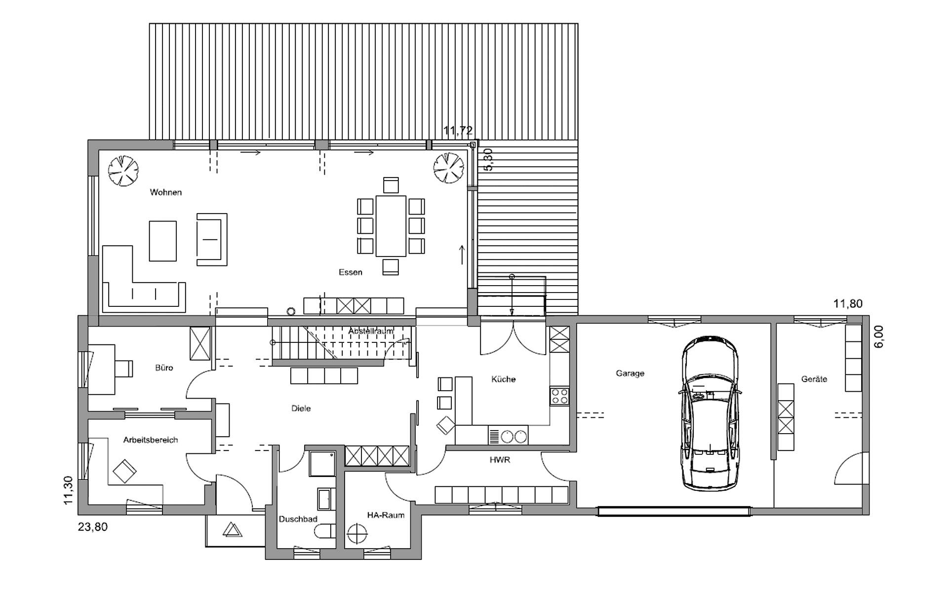 Erdgeschoss Plettenberg von Regnauer Hausbau GmbH & Co. KG