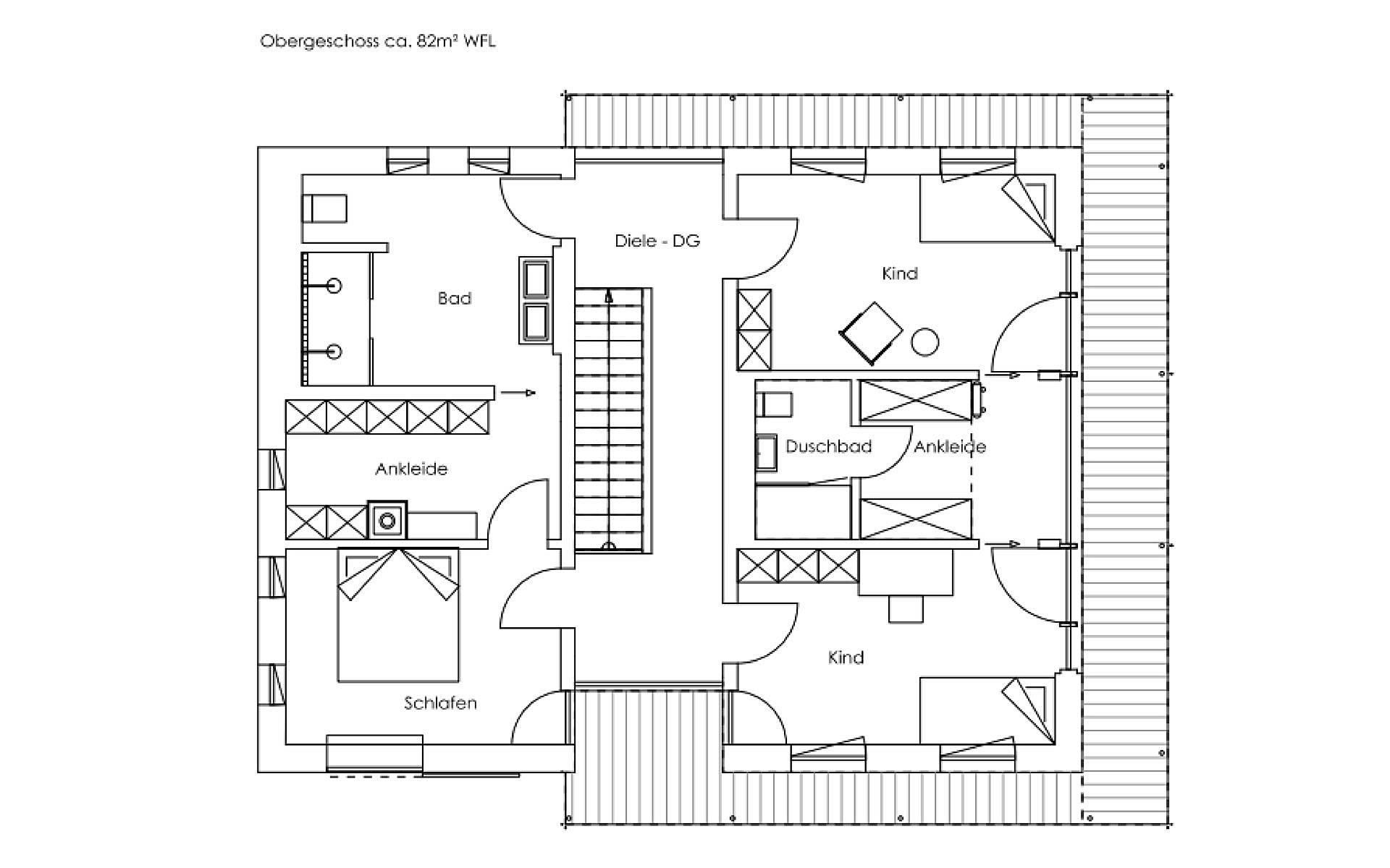 Obergeschoss Liesl von Regnauer Hausbau GmbH & Co. KG