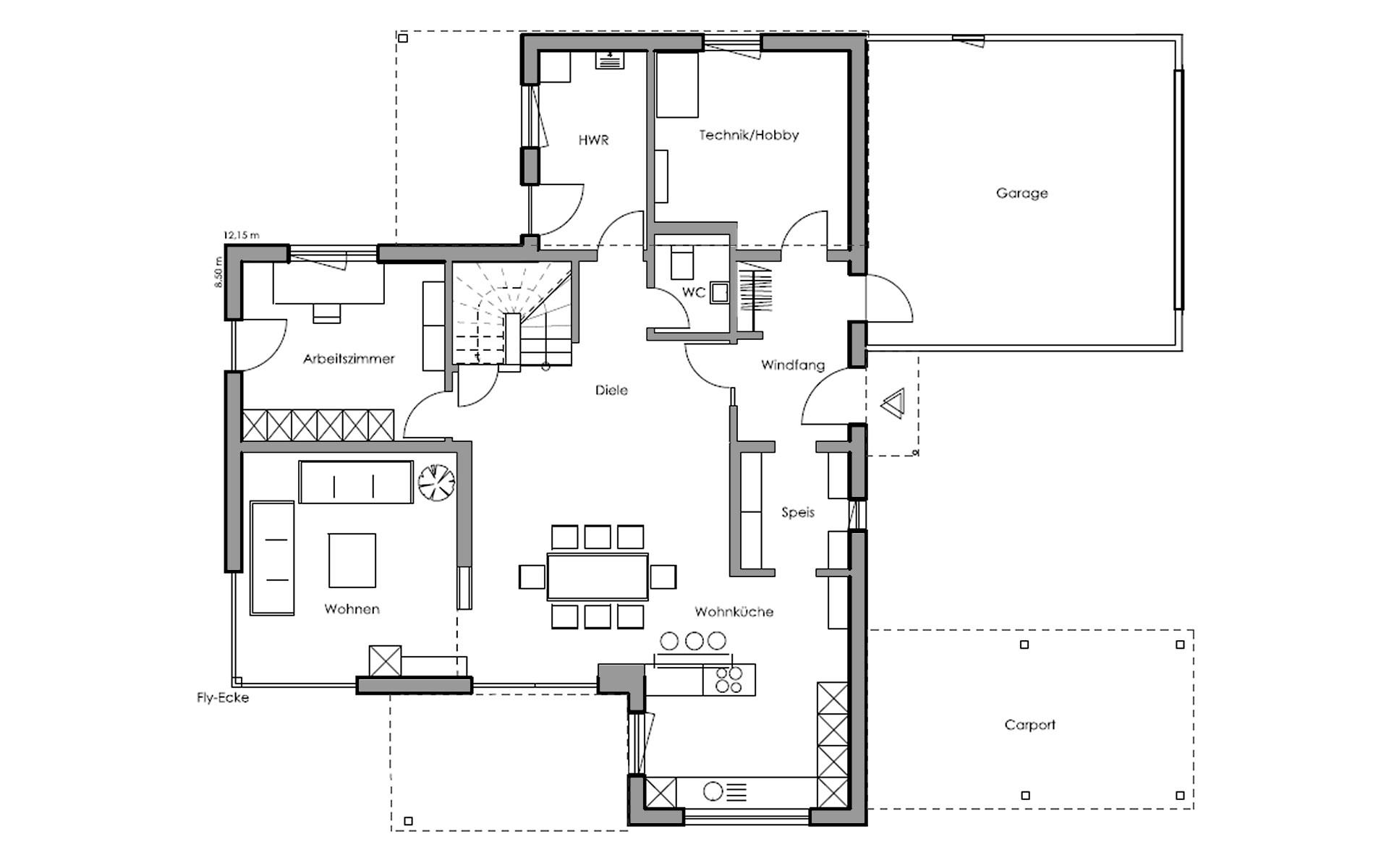 Erdgeschoss Schwabach von Regnauer Hausbau GmbH & Co. KG