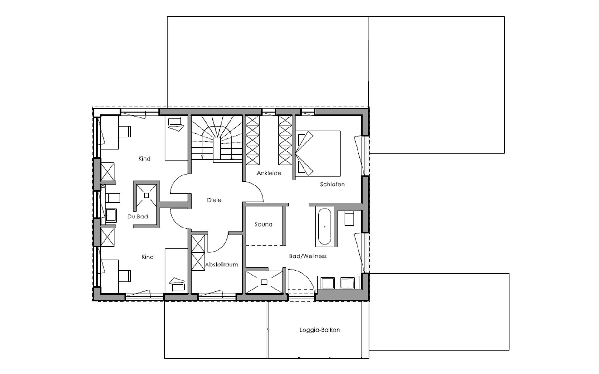 Obergeschoss Schwabach von Regnauer Hausbau GmbH & Co. KG