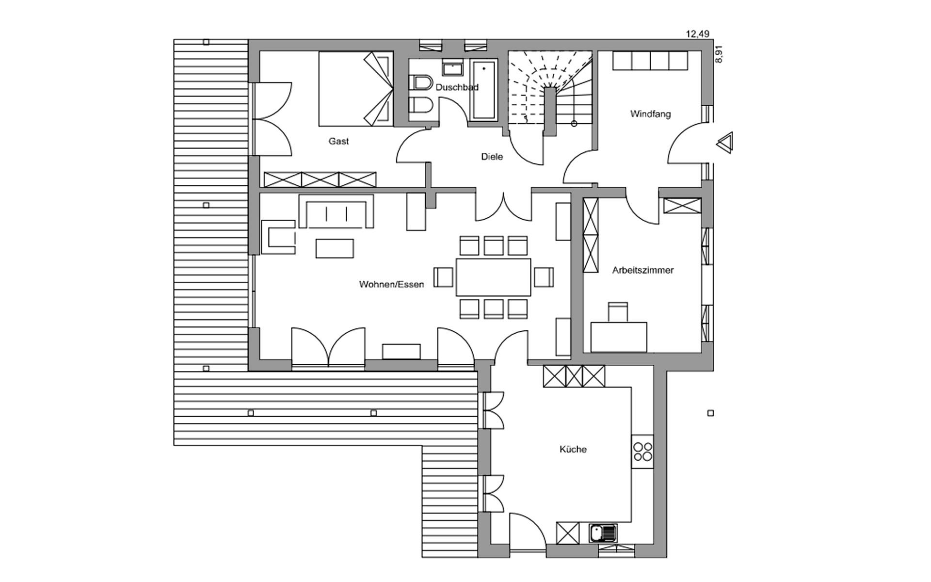 Erdgeschoss Genf von Regnauer Hausbau GmbH & Co. KG