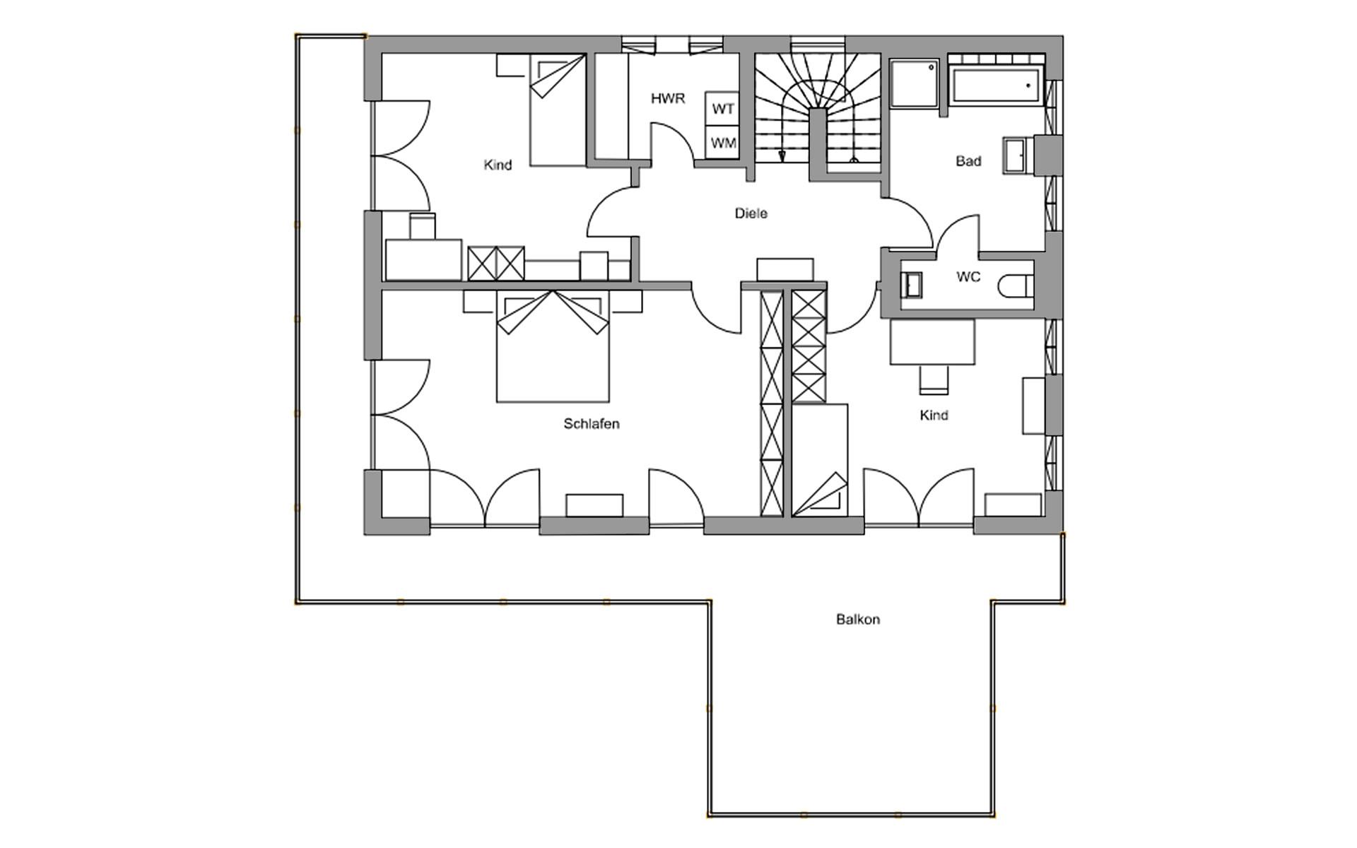 Obergeschoss Genf von Regnauer Hausbau GmbH & Co. KG
