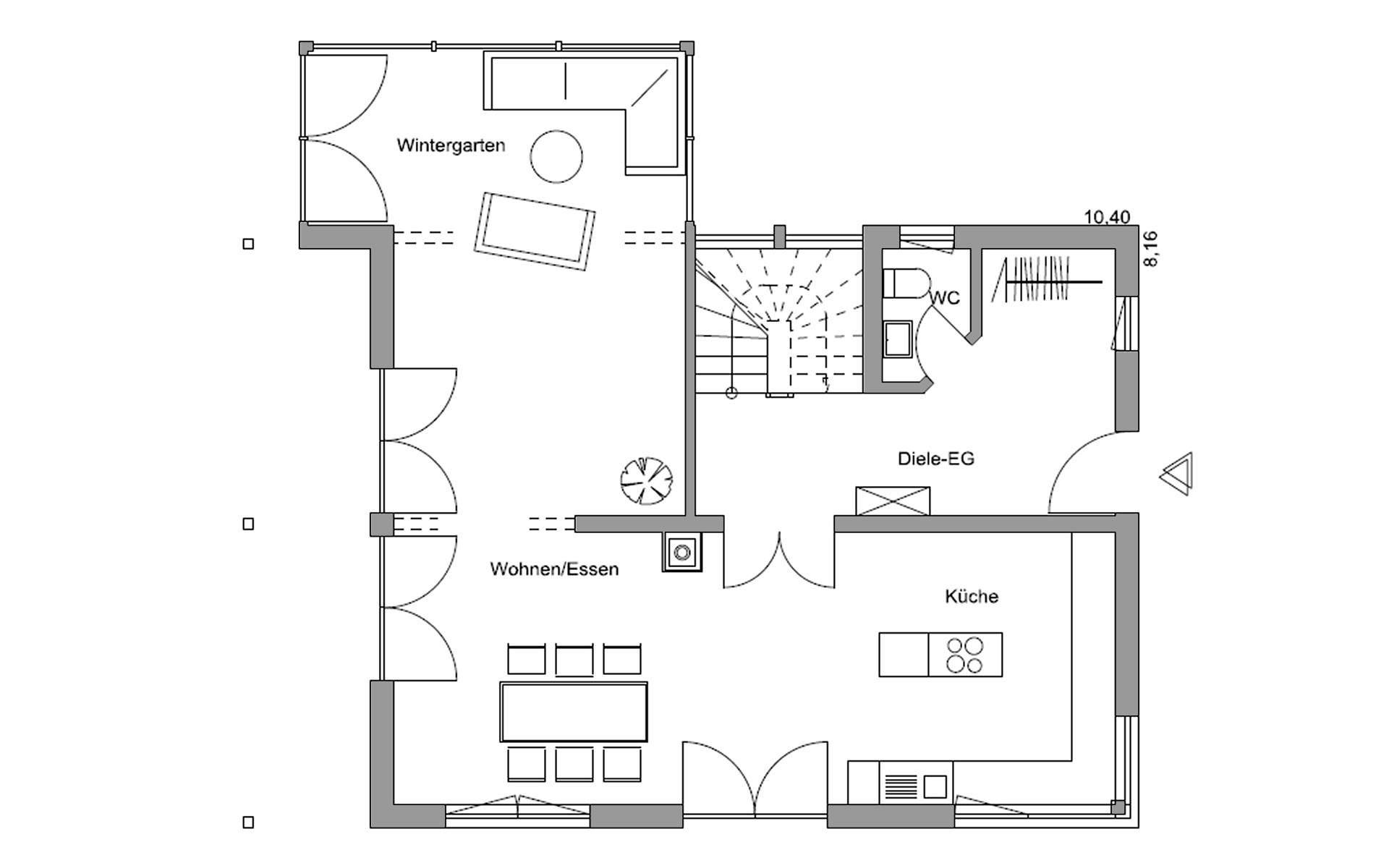 Erdgeschoss Seehausen von Regnauer Hausbau GmbH & Co. KG