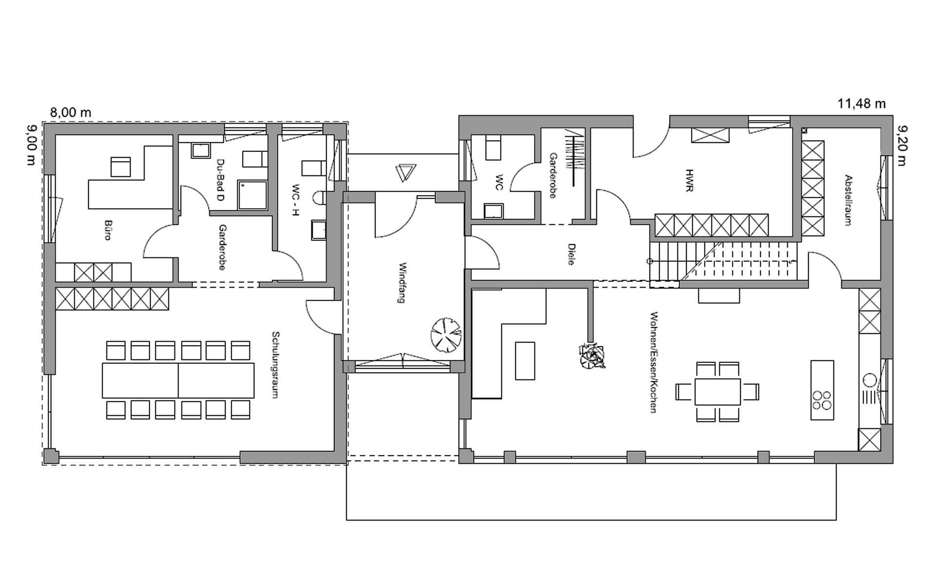 Erdgeschoss Sigmaringen von Regnauer Hausbau GmbH & Co. KG