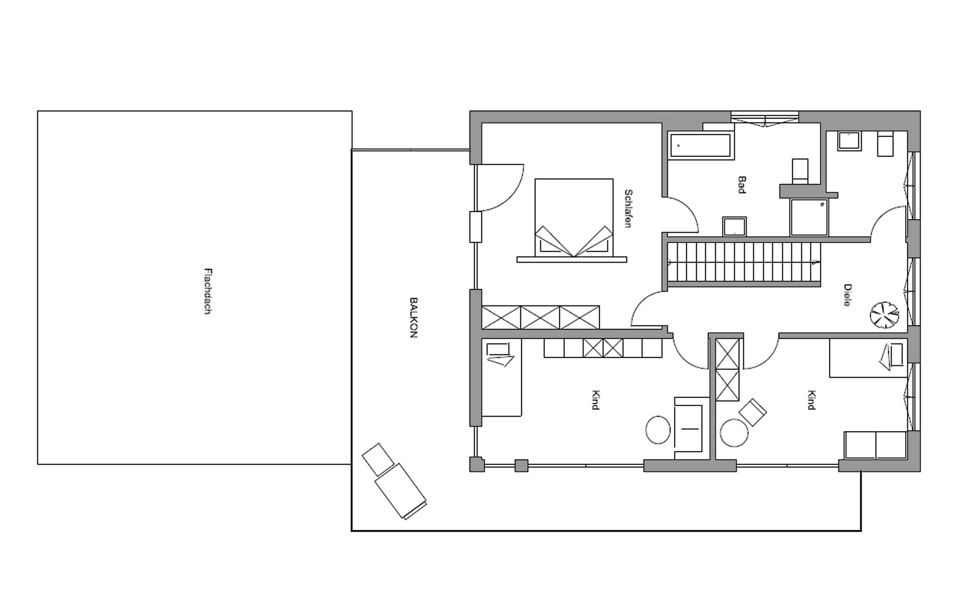 Obergeschoss Sigmaringen von Regnauer Hausbau GmbH & Co. KG