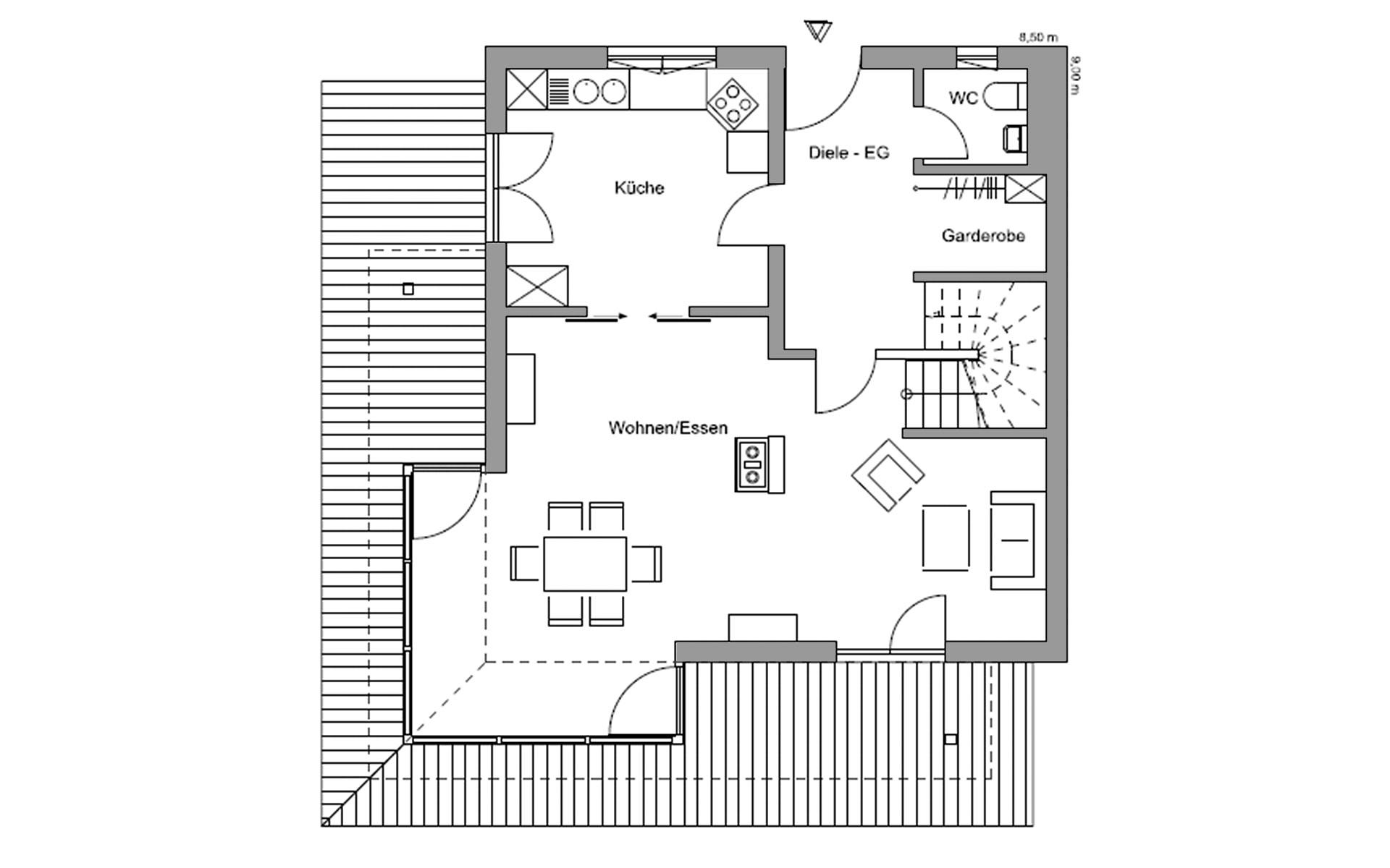Erdgeschoss Traunstein von Regnauer Hausbau GmbH & Co. KG
