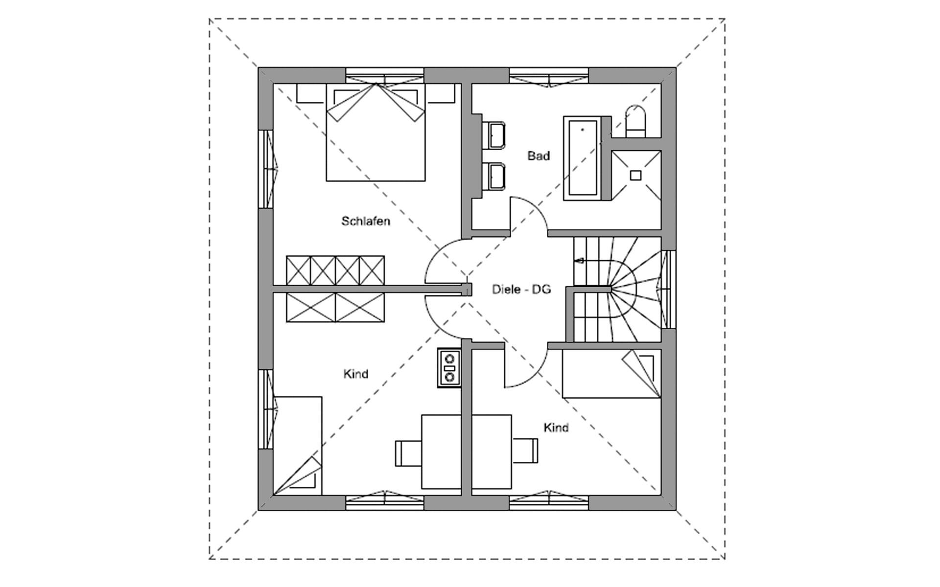 Obergeschoss Traunstein von Regnauer Hausbau GmbH & Co. KG