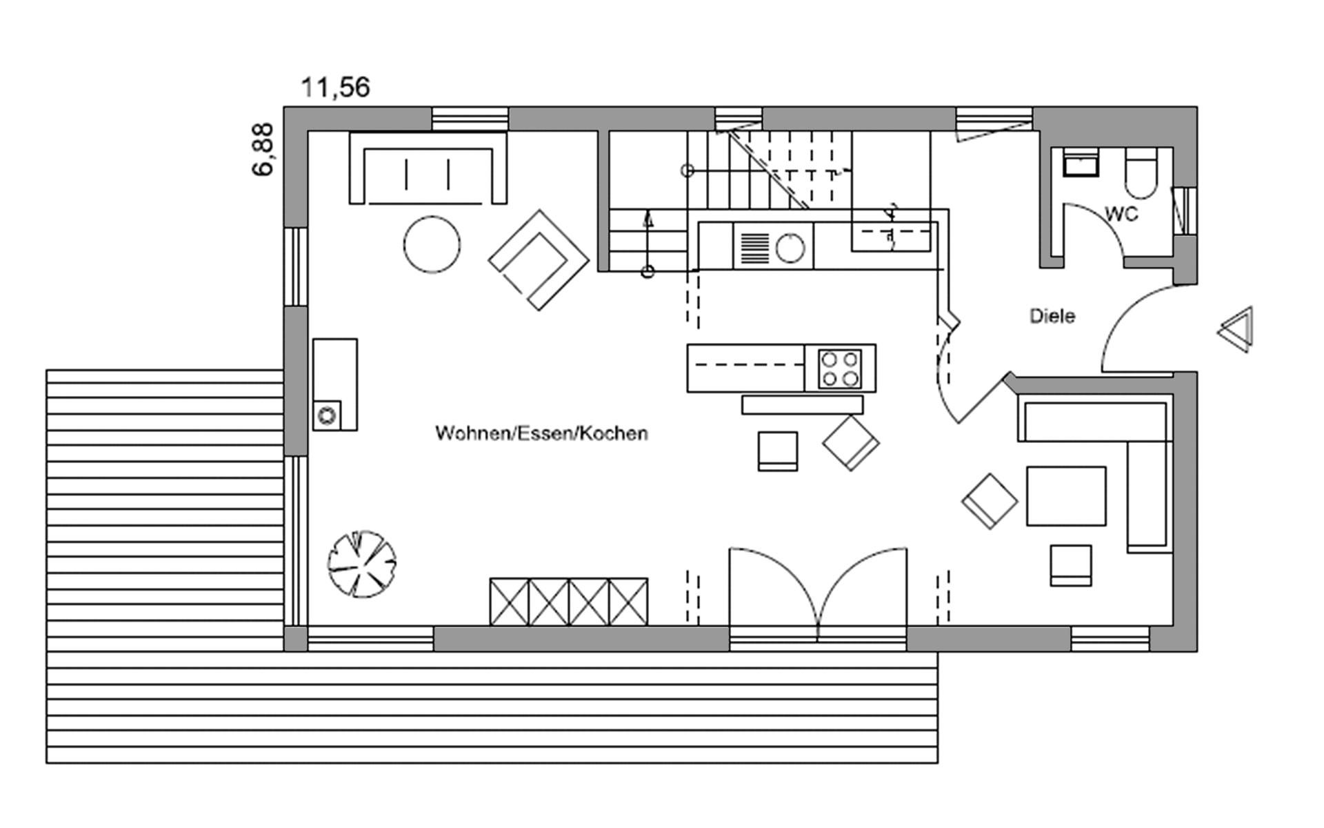 Erdgeschoss Volders von Regnauer Hausbau GmbH & Co. KG