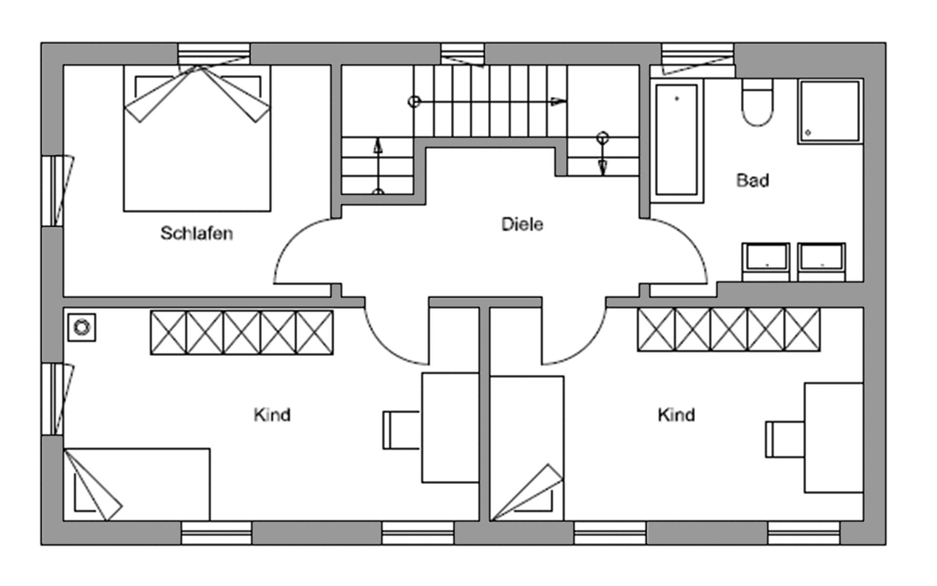 Obergeschoss Volders von Regnauer Hausbau GmbH & Co. KG