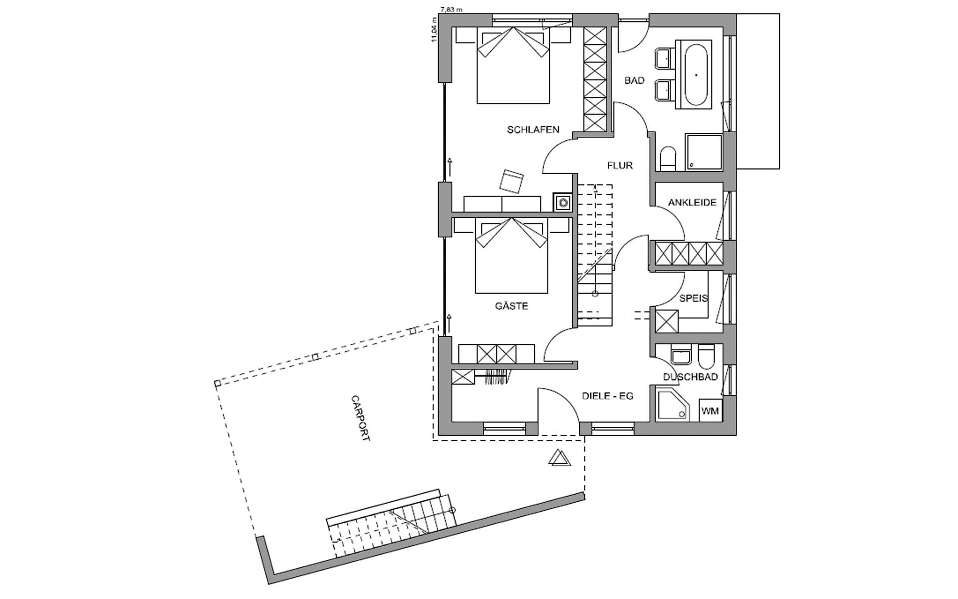Erdgeschoss Waakirchen von Regnauer Hausbau GmbH & Co. KG
