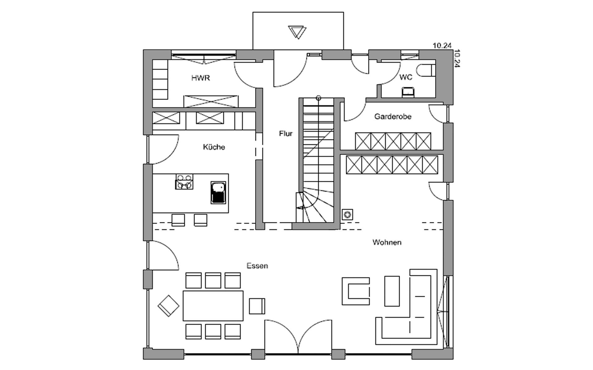 Erdgeschoss Zorneding von Regnauer Hausbau GmbH & Co. KG