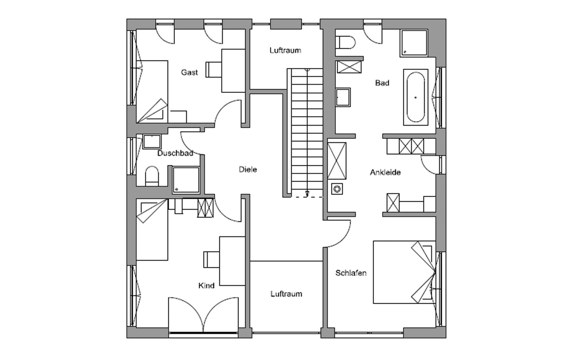 Obergeschoss Zorneding von Regnauer Hausbau GmbH & Co. KG