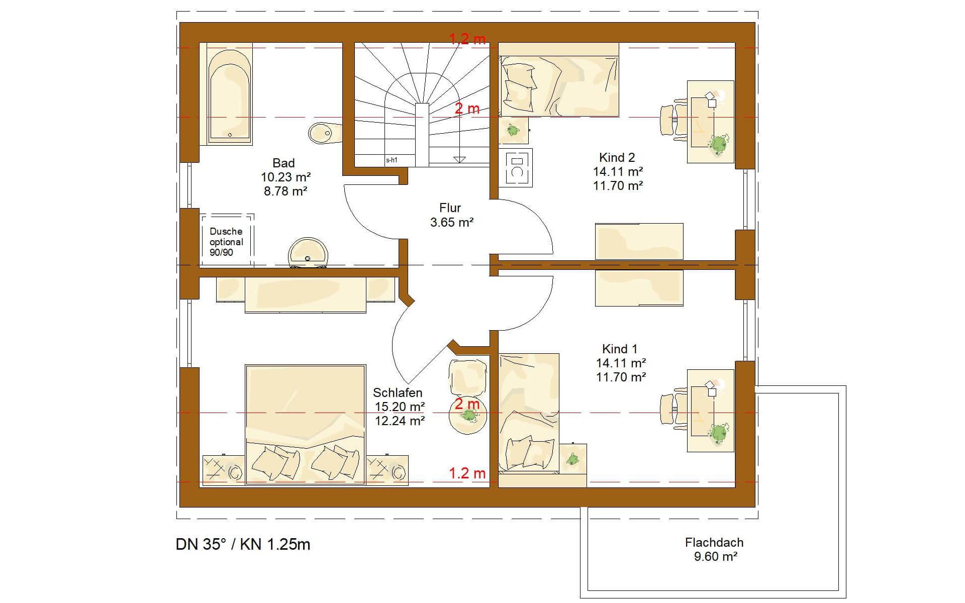Dachgeschoss CLOU 119 von RENSCH-HAUS GMBH