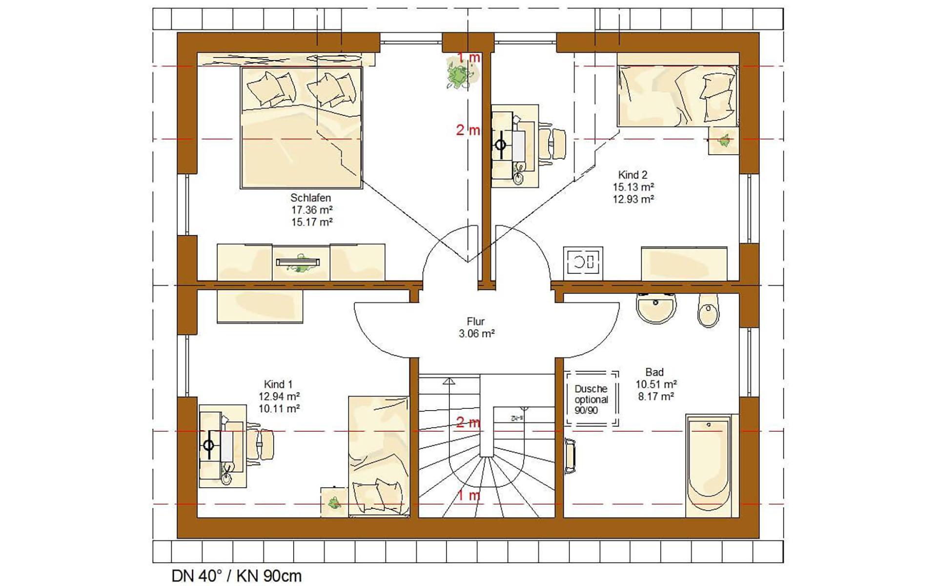 Dachgeschoss CLOU 123 (3 Giebel) von RENSCH-HAUS GMBH