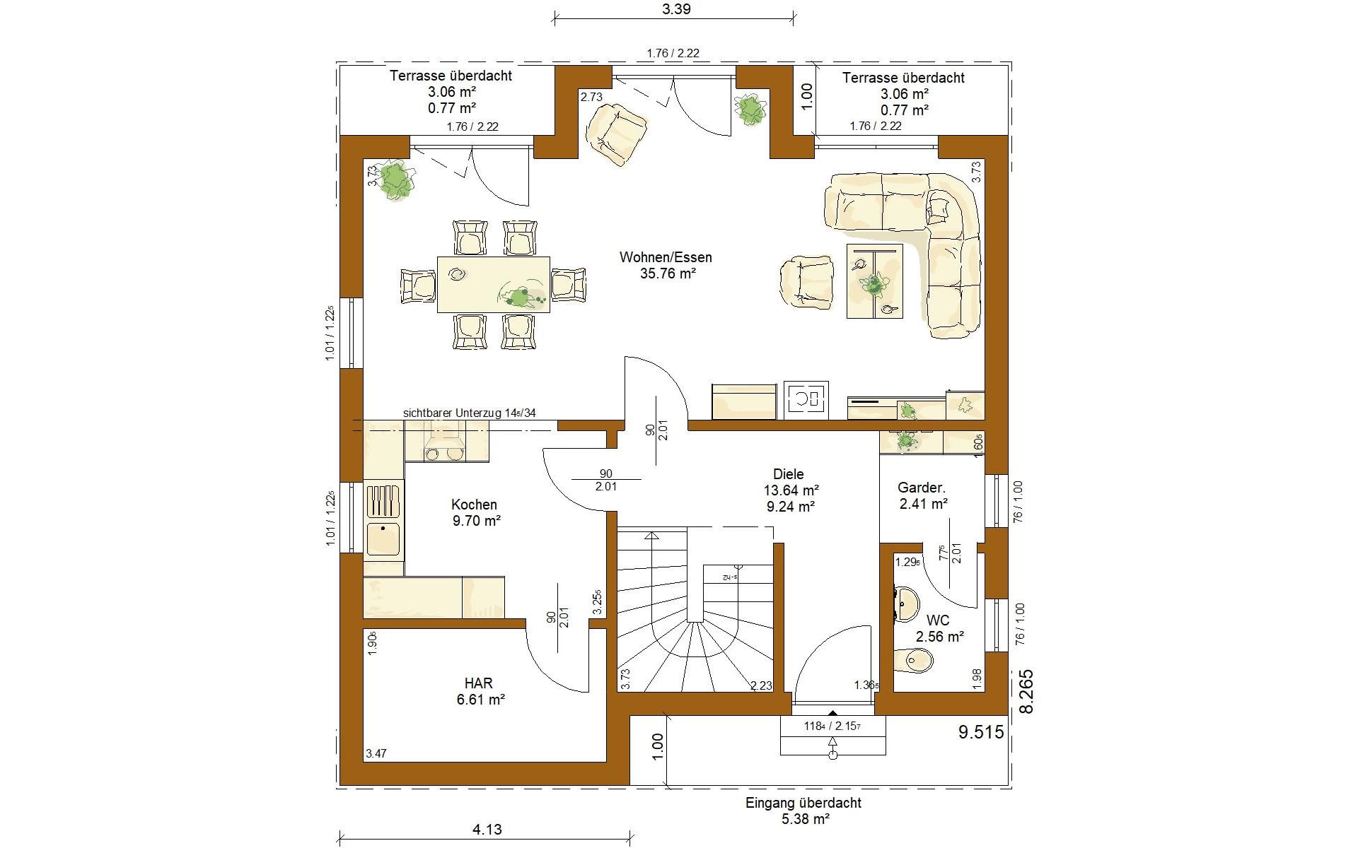 Erdgeschoss CLOU 123 (Pluspaket) von RENSCH-HAUS GMBH