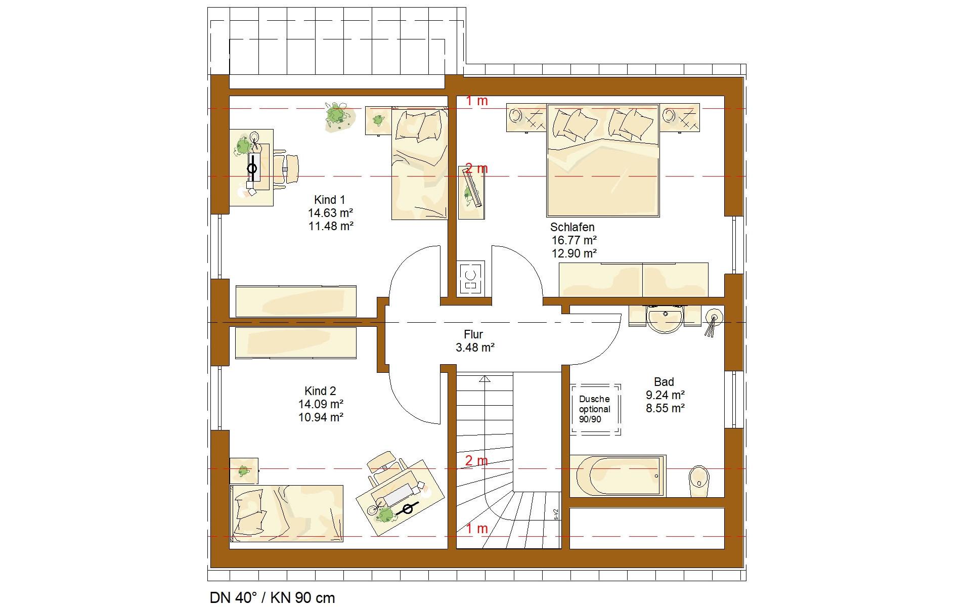 Dachgeschoss CLOU 125 von RENSCH-HAUS GMBH
