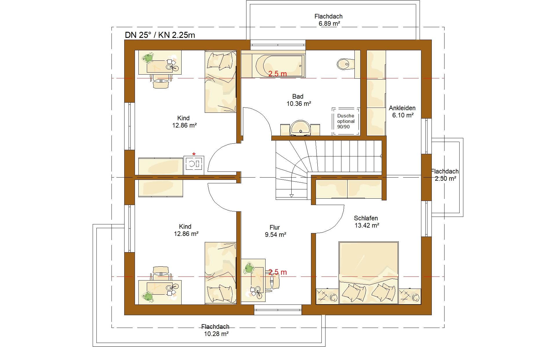 Dachgeschoss CLOU 134 von RENSCH-HAUS GMBH
