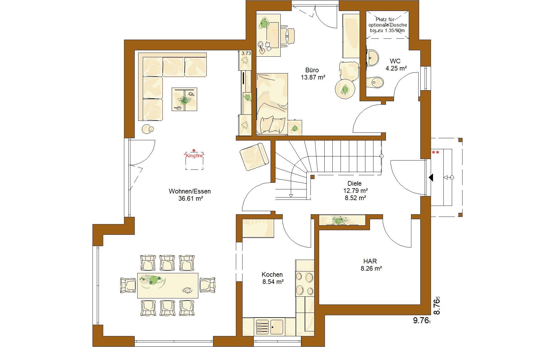 Erdgeschoss CLOU 134 von RENSCH-HAUS GMBH