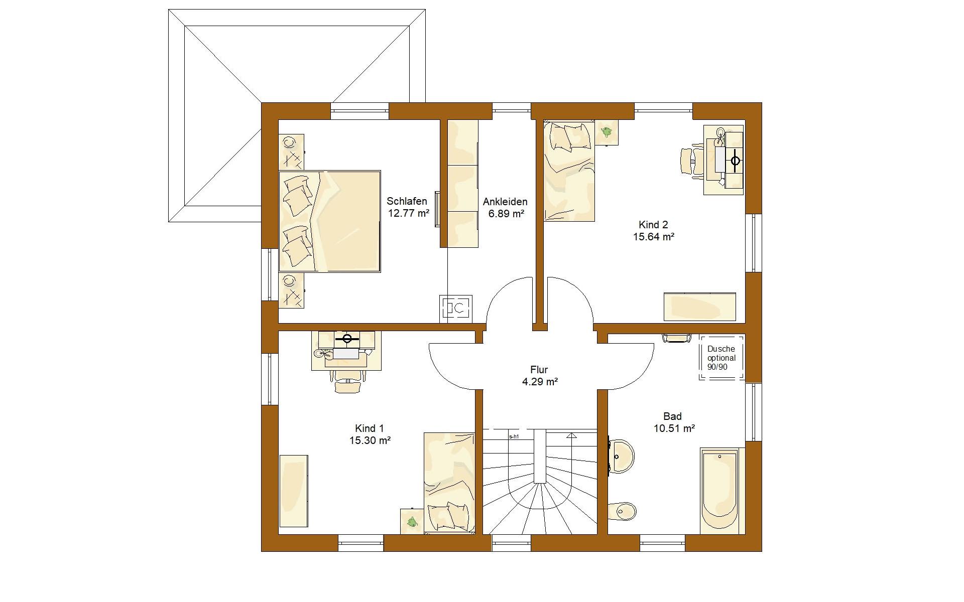 Erdgeschoss CLOU 135 (Satteldach) von RENSCH-HAUS GMBH