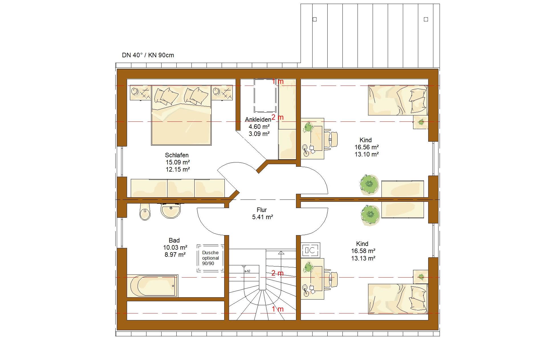 Dachgeschoss CLOU 143 von RENSCH-HAUS GMBH