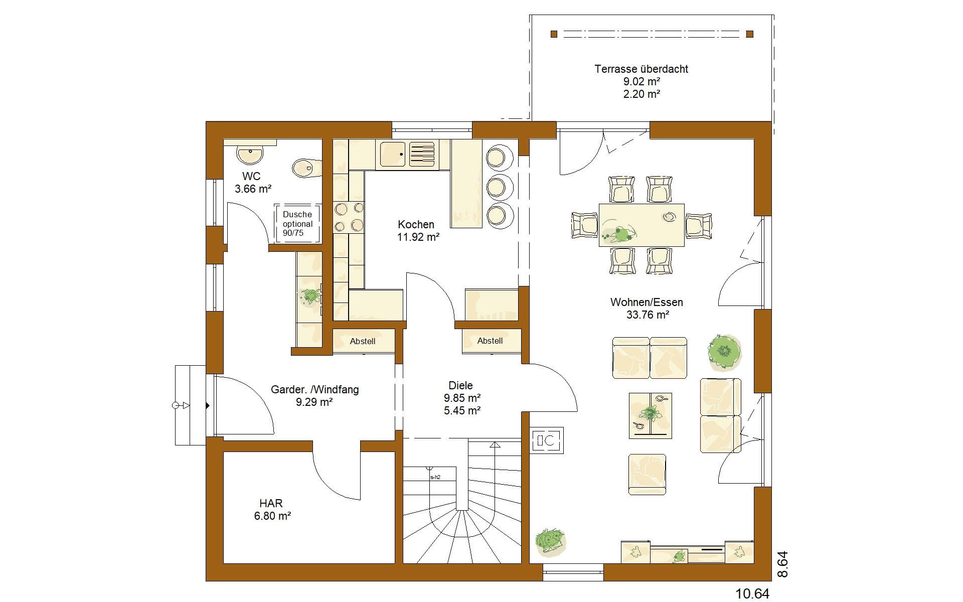 Erdgeschoss CLOU 143 von RENSCH-HAUS GMBH