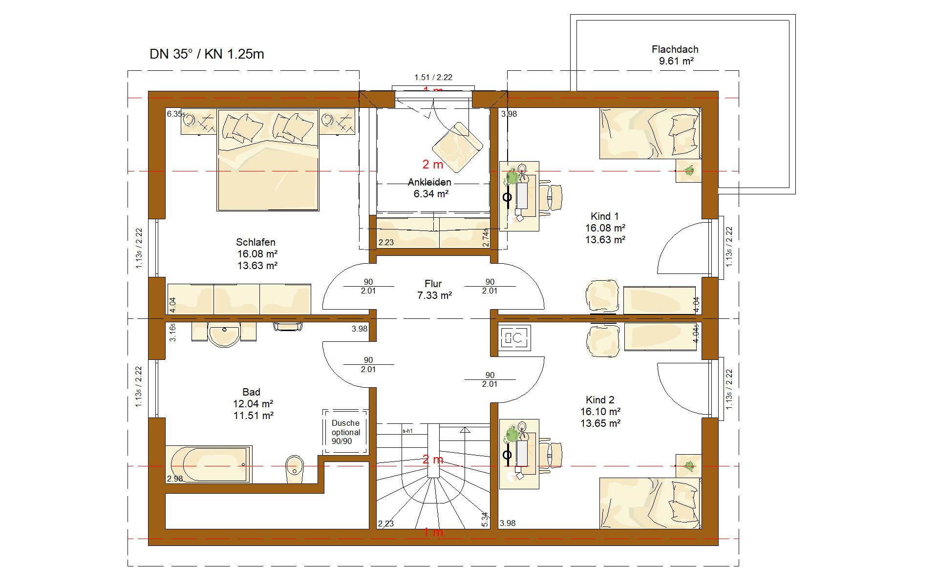 Dachgeschoss CLOU 156 von RENSCH-HAUS GMBH