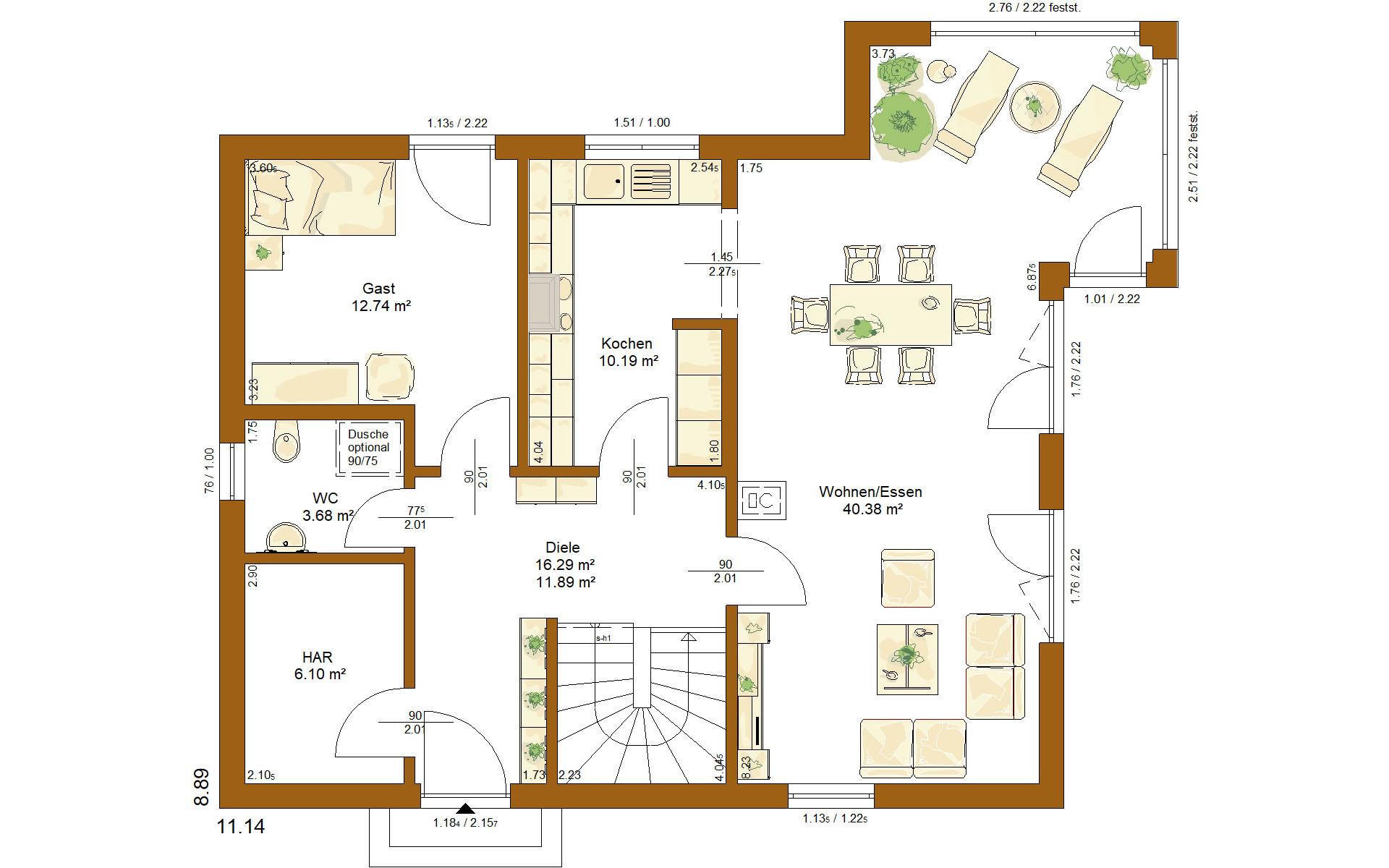 Erdgeschoss CLOU 156 von RENSCH-HAUS GMBH