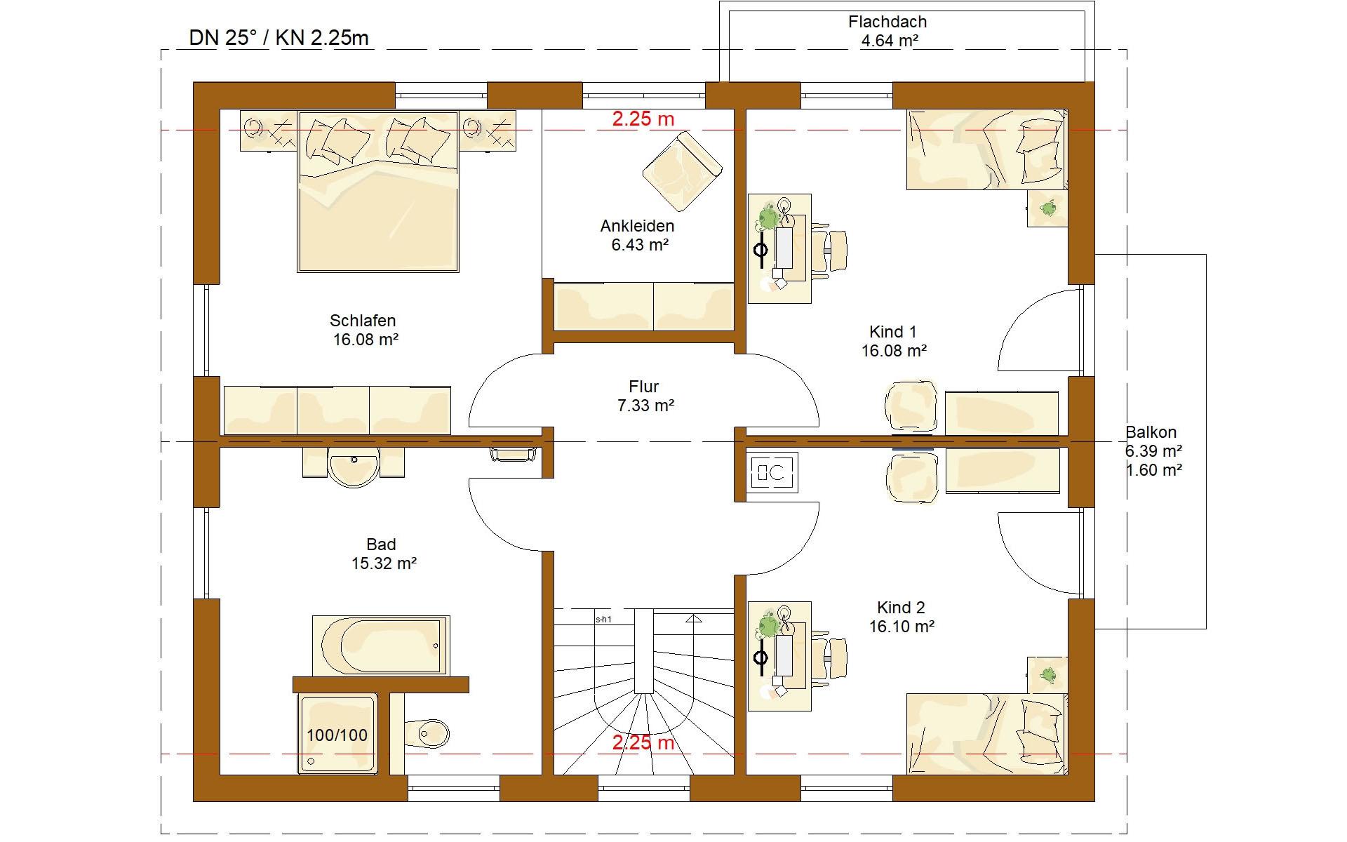 Dachgeschoss CLOU 159 von RENSCH-HAUS GMBH