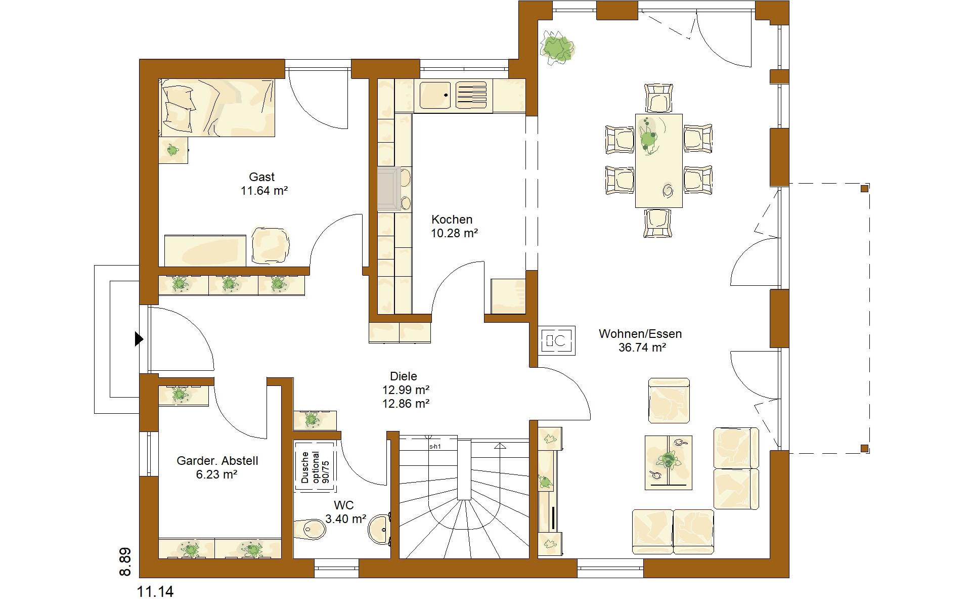 Erdgeschoss CLOU 159 von RENSCH-HAUS GMBH