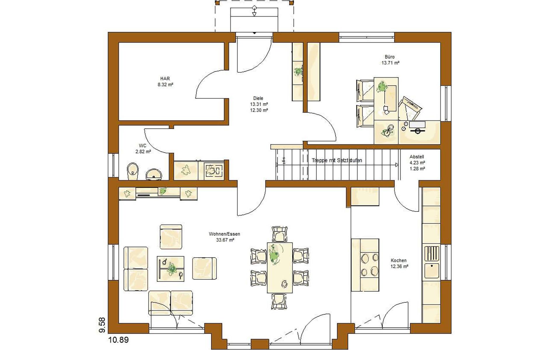 Erdgeschoss CLOU 169 von RENSCH-HAUS GMBH