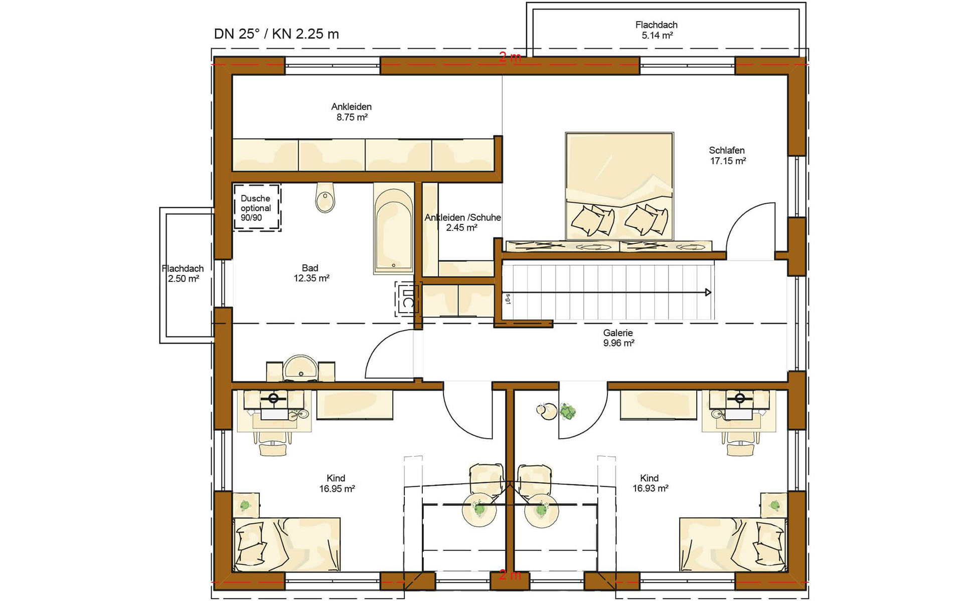 Dachgeschoss CLOU 174 von RENSCH-HAUS GMBH