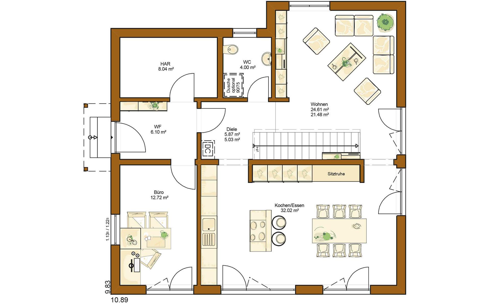 Erdgeschoss CLOU 174 von RENSCH-HAUS GMBH
