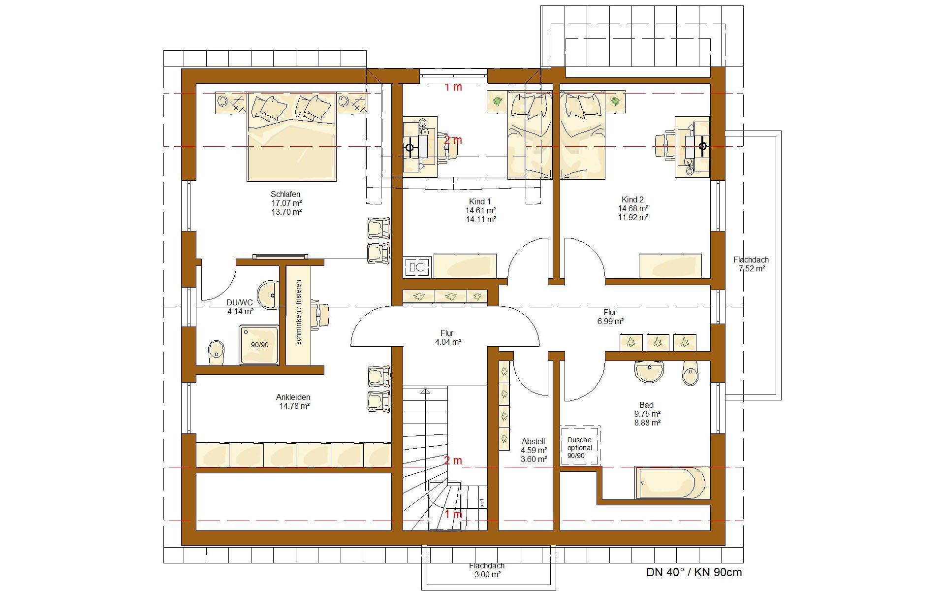 Dachgeschoss CLOU 202 von RENSCH-HAUS GMBH