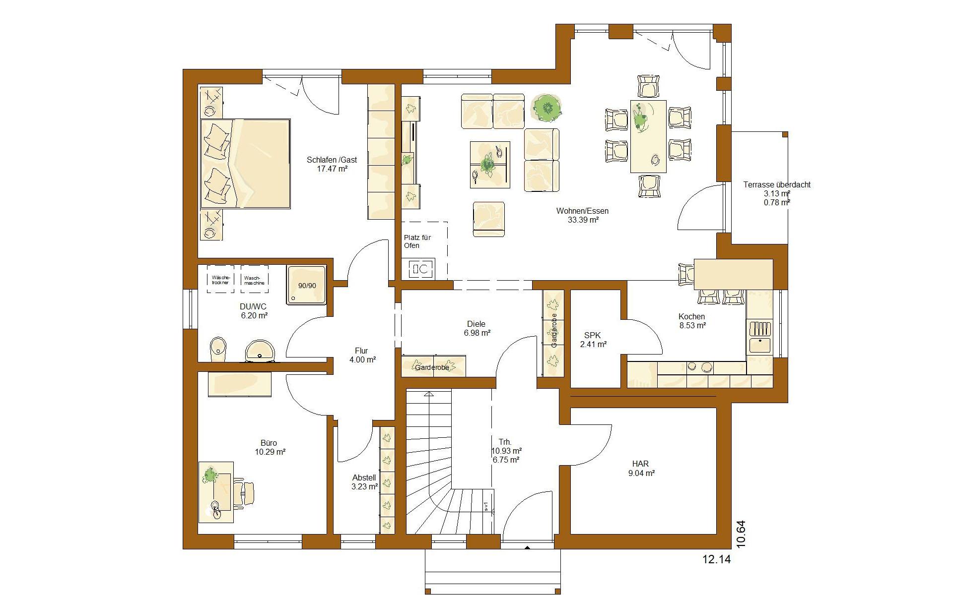 Erdgeschoss CLOU 202 von RENSCH-HAUS GMBH