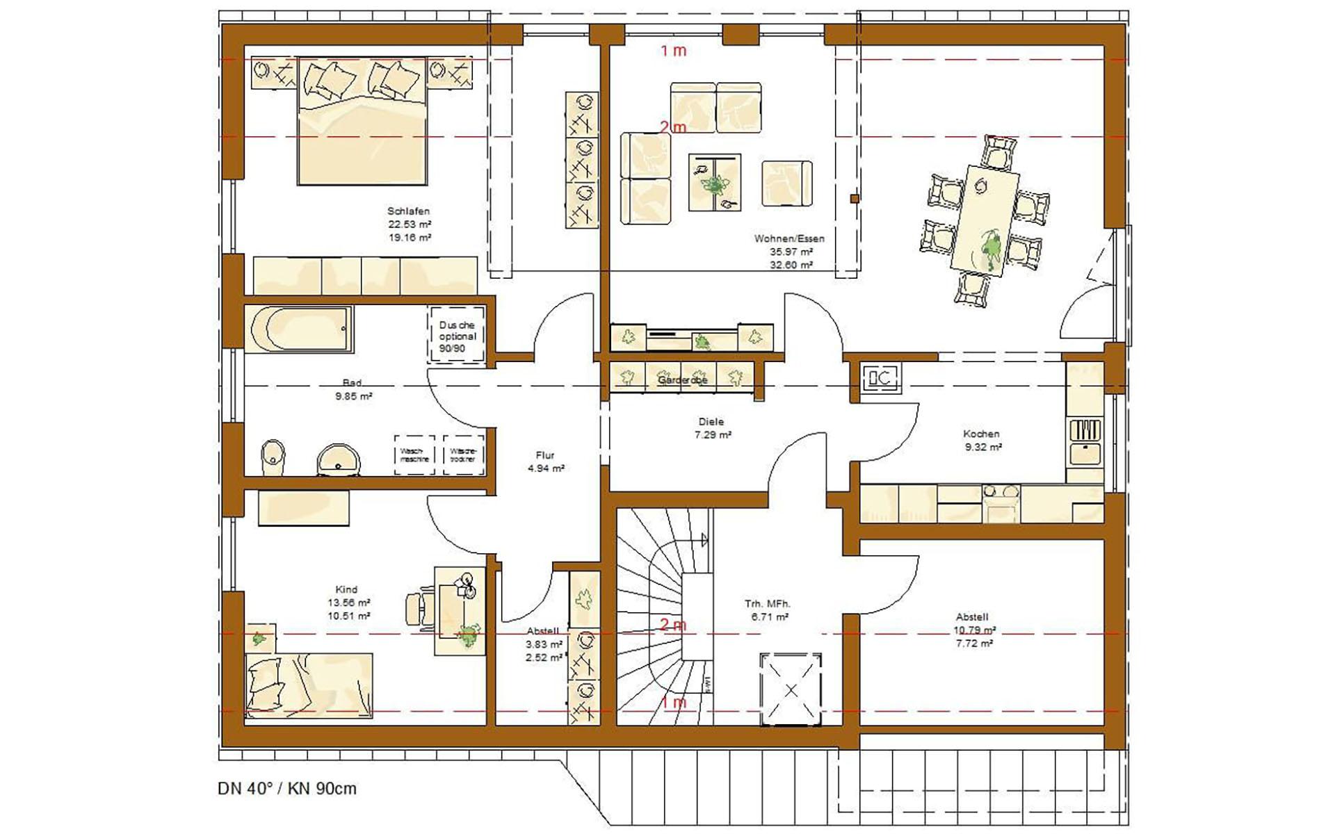 Dachgeschoss CLOU 254 von RENSCH-HAUS GMBH