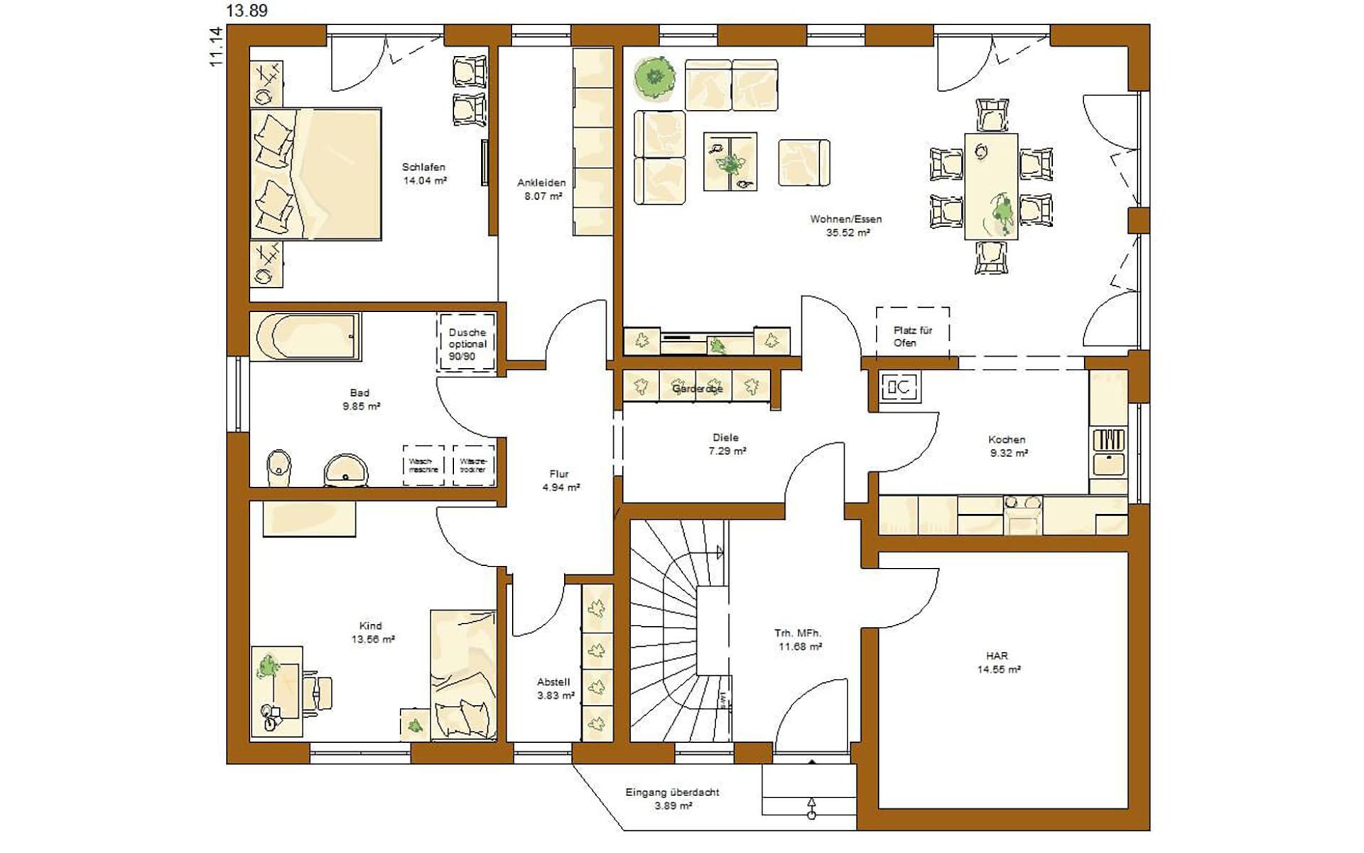 Erdgeschoss CLOU 254 von RENSCH-HAUS GMBH
