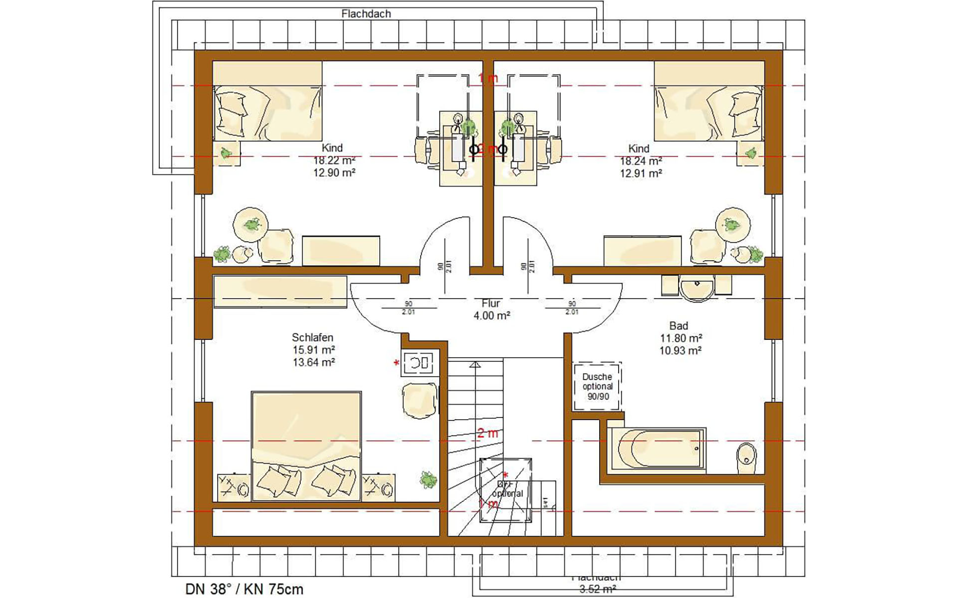 Dachgeschoss Life 150 von RENSCH-HAUS GMBH