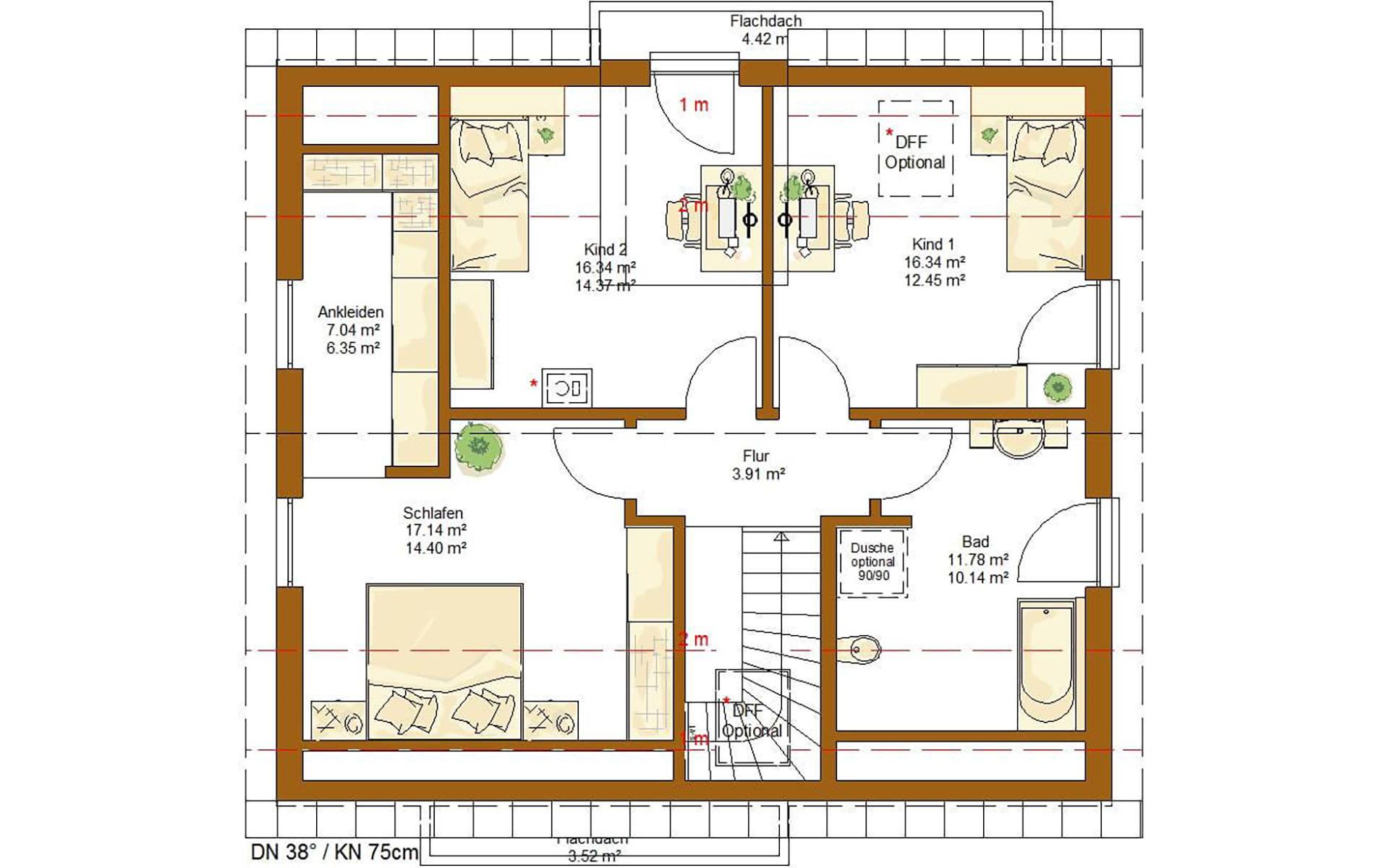 Dachgeschoss Life 157 von RENSCH-HAUS GMBH