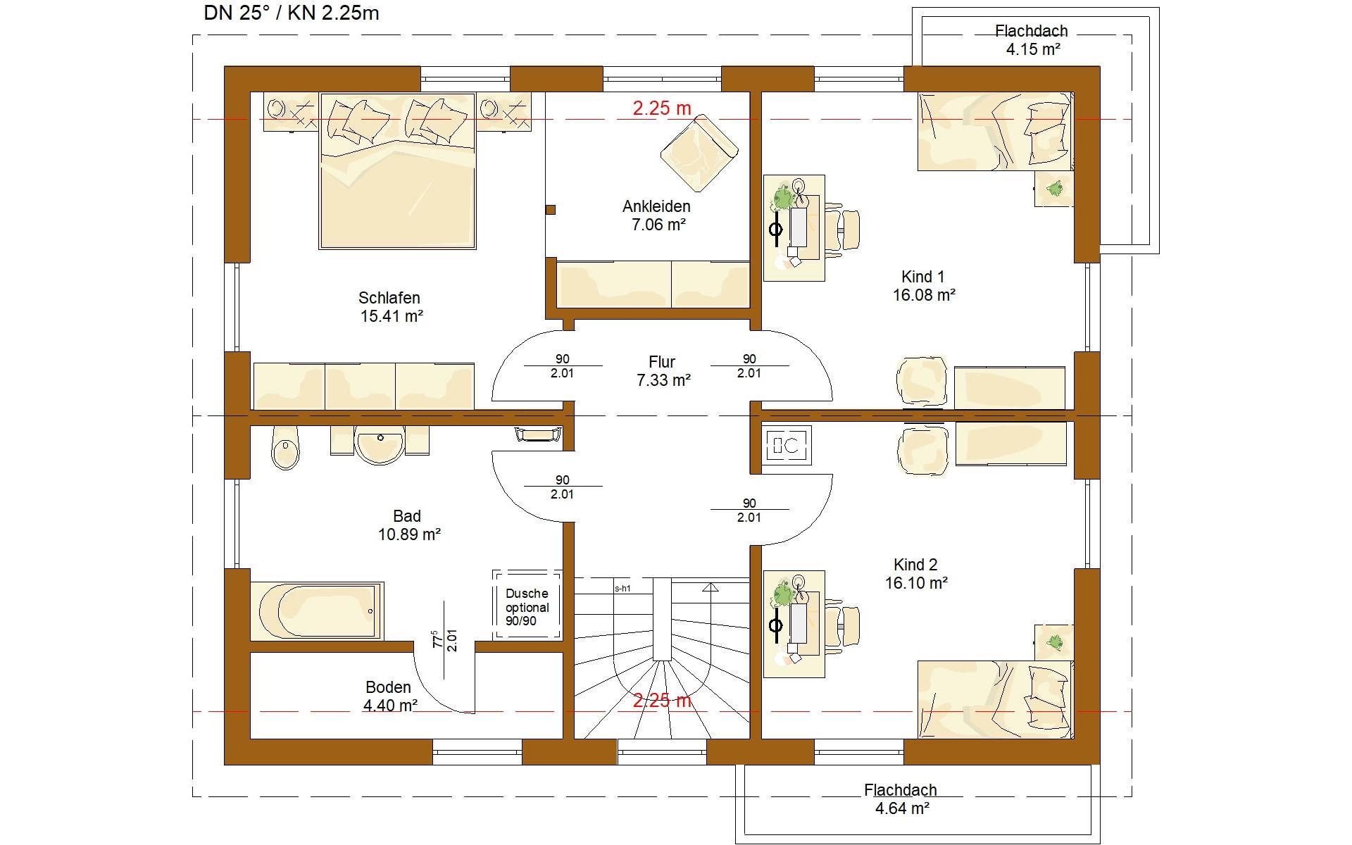 Dachgeschoss Life 159 von RENSCH-HAUS GMBH