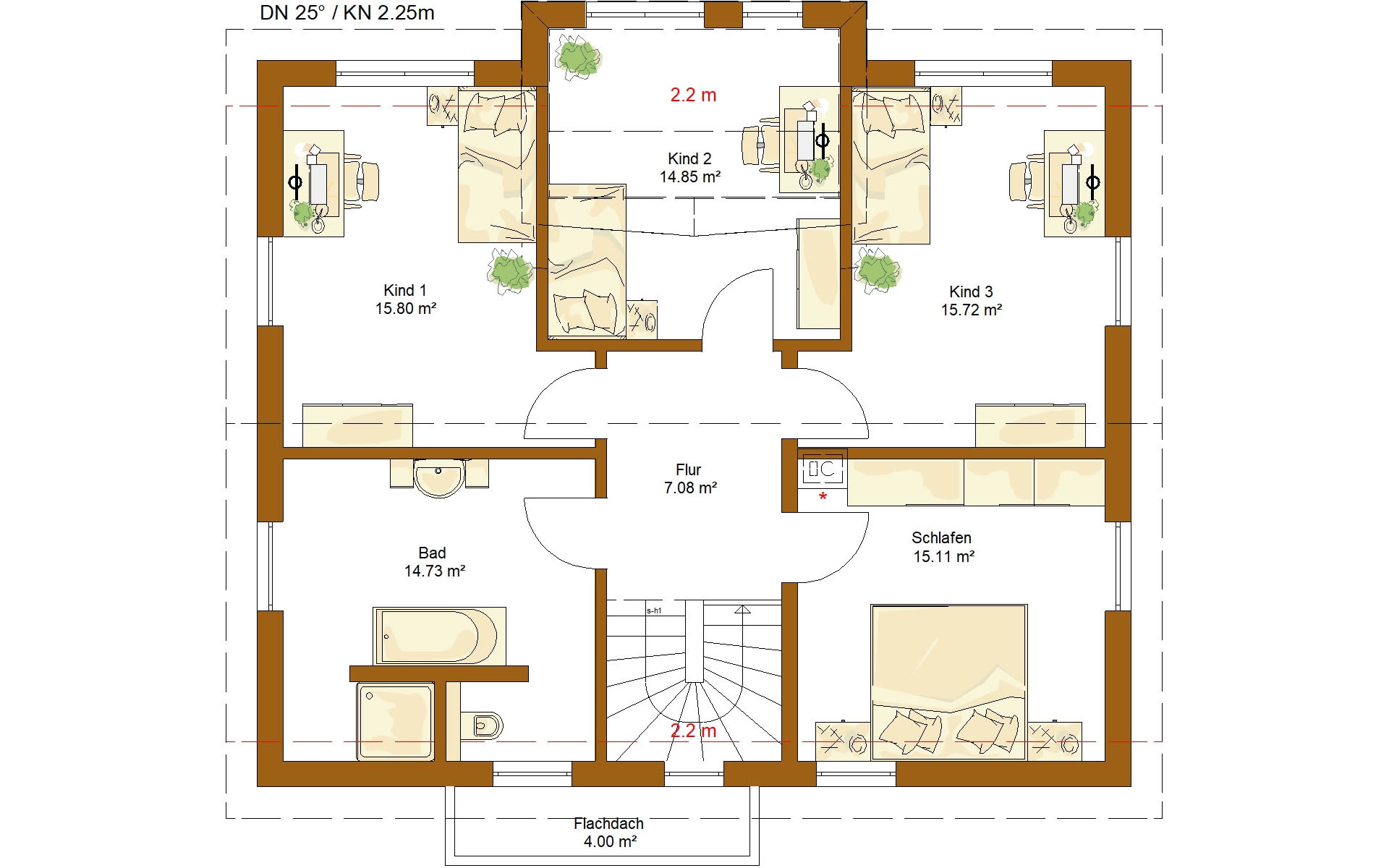 Dachgeschoss Life 165 von RENSCH-HAUS GMBH