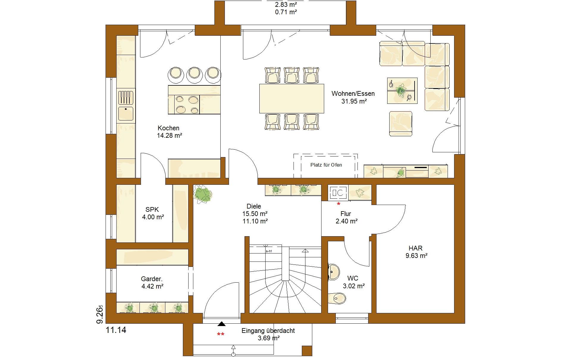 Erdgeschoss Life 165 von RENSCH-HAUS GMBH