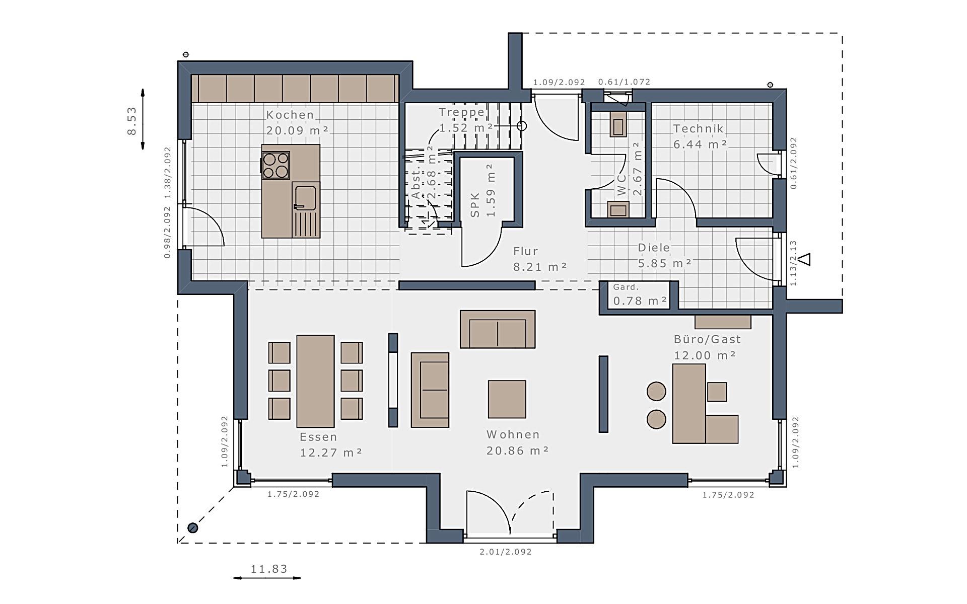 Erdgeschoss Selection-E-169 E1 von Schwabenhaus GmbH & Co. KG