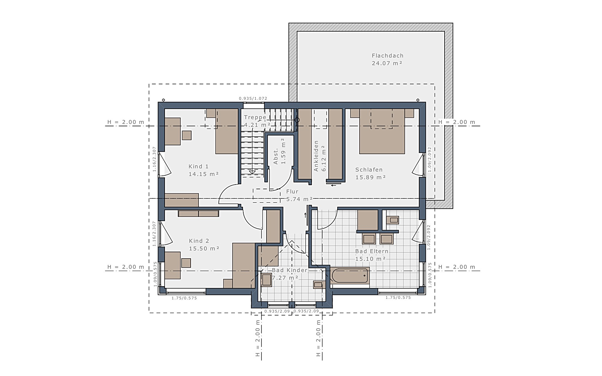 Dachgeschoss Selection-E-169 E5 von Schwabenhaus GmbH & Co. KG